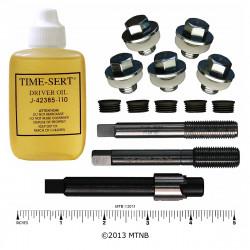 """Time-Sert 0765 1/2-20 to 7/16-20 Inch Ford Drain Pan """"Tin"""" Thread Repair Kit"""