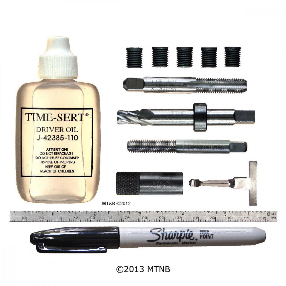 Time-Sert 1812 CORE M8 x 1.25mm Metric GM Rocker Arm Thread Repair Kit