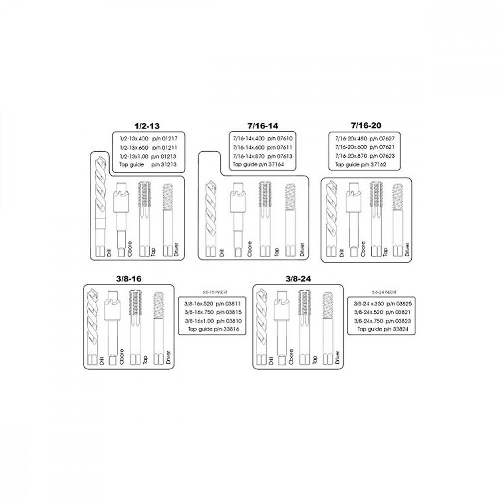TIME-SERT 3//8-16x.750 Insert Qty 10 p//n 03815