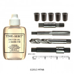Time Sert 0127S 1/8-27 Taper Pipe Thread Repair Kit w/ Stainless Steel Inserts