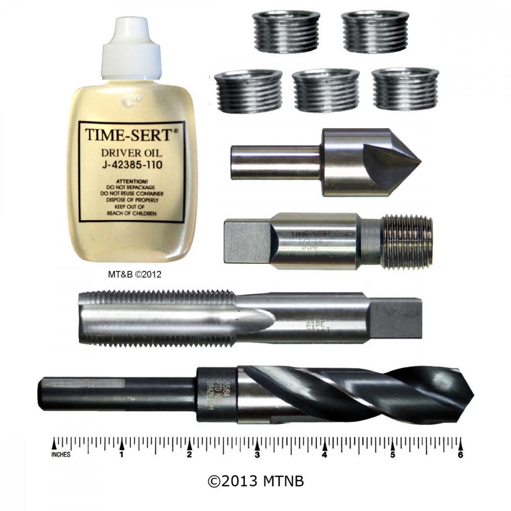 Time-Sert 0214 1/2-14 Inch Taper Pipe Thread Repair Kit